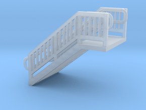 N Scale Steel Station Stairs H12.5W12.5mm in Smooth Fine Detail Plastic