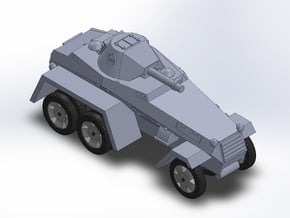 WW2 GERMAN ARMORED CAR in Smooth Fine Detail Plastic
