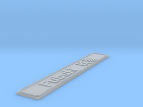 Nameplate Fubuki  吹雪 in Smoothest Fine Detail Plastic