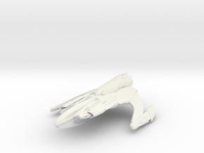 Zacordor Class B BattleCruiser in White Natural Versatile Plastic