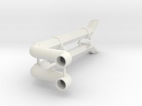 HC4 Exhaust hex Tube V2 in White Natural Versatile Plastic