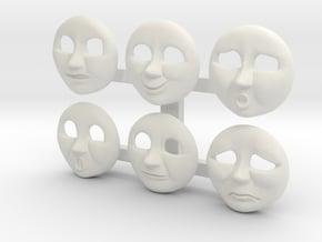 HO Edward Face Pack #1 in White Natural Versatile Plastic