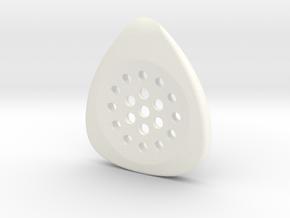 jazz pick 3.4mm  in White Processed Versatile Plastic