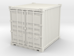 10ft Shipping Container 1/87 in White Natural Versatile Plastic