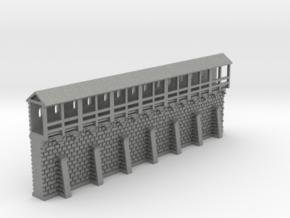 Stadtmauersegment - 1:220 (Z scale) in Gray PA12