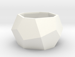 gmtrx lawal Deltoidal icositetrahedron ring in White Processed Versatile Plastic