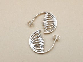 Mitosis Anaphase Hoops - Science Jewelry in Polished Silver