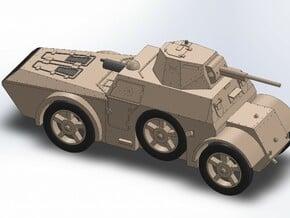 WW2 ITALIAN ARMORED CAR in Smooth Fine Detail Plastic