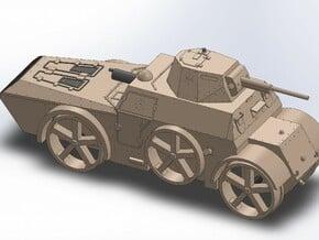 WW2 ITALIAN ARMORED RAILCAR in Smooth Fine Detail Plastic