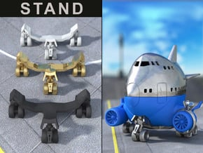 STAND LANDING GEAR for the Airplane Ring Box in Black Natural Versatile Plastic
