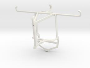 Controller mount for PS4 & Xiaomi Redmi Note 10 Pr in White Natural Versatile Plastic