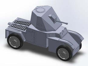 WW2 FRENCH ARMORED CAR in Smooth Fine Detail Plastic