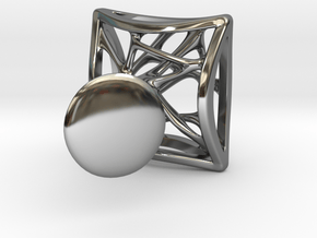 Malenko Jewelry Silver Cuff Links in Fine Detail Polished Silver