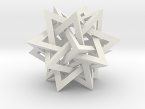 Intersecting Tetrahedra in White Natural Versatile Plastic