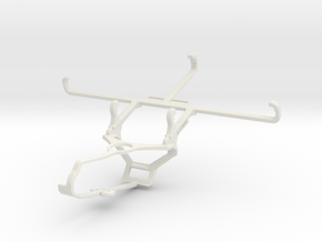 Controller mount for Steam & Tecno Spark 7 - Front in White Natural Versatile Plastic