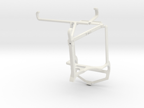 Controller mount for PS4 & Tecno Spark 7P - Top in White Natural Versatile Plastic
