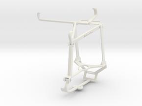 Controller mount for Steam & Tecno Spark 7P - Top in White Natural Versatile Plastic
