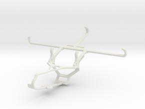 Controller mount for Steam & Tecno Spark 7P - Fron in White Natural Versatile Plastic