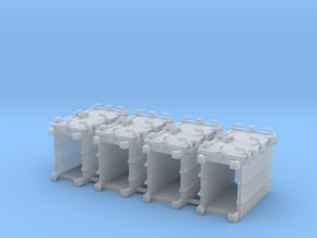"""1/72 Royal Navy 4.7"""" Ready Use Lockers (Med) x4 in Smoothest Fine Detail Plastic"""