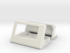 Case for pimoroni Inky pHAT and raspberry pi in White Natural Versatile Plastic