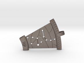 Virgo Constellation Pendant in Polished Bronzed Silver Steel