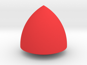 Jumbo Reuleaux Triangle in Red Processed Versatile Plastic