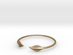 """Leaf Torc 5"""" Diameter in Polished Gold Steel"""