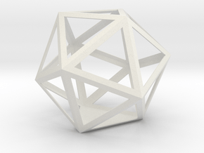 gmtrx lawal skeletal icosahedron design 4 in White Natural Versatile Plastic