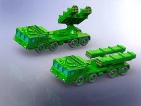 BM-27M (9K512) Uragan-1M MRLS 1/220 in Smooth Fine Detail Plastic