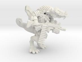 Space Lizard in White Natural Versatile Plastic