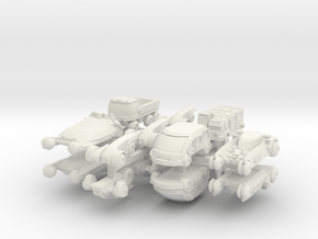 1-220 Futuristic Cars for Stuart in White Natural Versatile Plastic