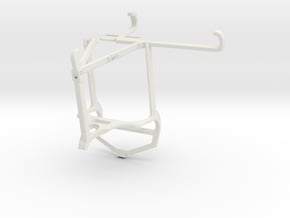 Controller mount for PS4 & Tecno Spark 7 Pro - Top in White Natural Versatile Plastic
