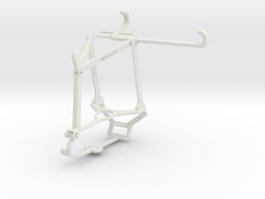 Controller mount for Steam & Tecno Spark 7 Pro - T in White Natural Versatile Plastic