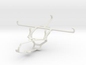 Controller mount for Steam & Tecno Spark 7 Pro - F in White Natural Versatile Plastic