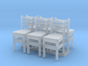 Chair 07. HO Scale (1:87) in Smooth Fine Detail Plastic