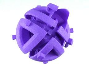 Octahedral holonomy maze 1 in Purple Processed Versatile Plastic