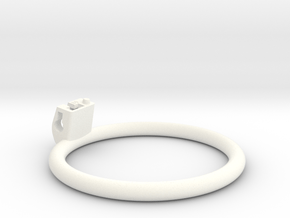 Cherry Keeper Ring G2 - 80mm Flat in White Processed Versatile Plastic