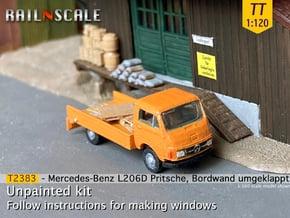 Mercedes-Benz L206D Pritsche (TT 1:120) in Smooth Fine Detail Plastic
