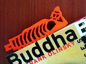 Buddha Bookmark in Orange Processed Versatile Plastic