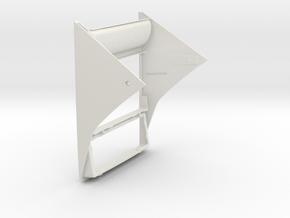 Lancia Delta centre console frame in White Natural Versatile Plastic