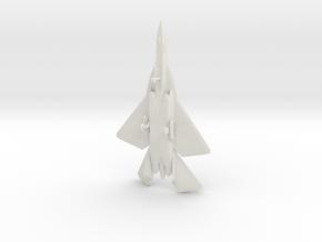 F/A-44E Aruval Stealth Fighter w/Landing Gear in White Natural Versatile Plastic: 6mm