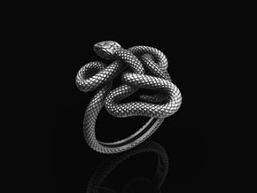Stering Silver Snake Ring in Antique Silver