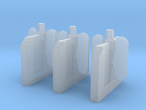 A-04E Ticket Barriers Extensions in Smooth Fine Detail Plastic