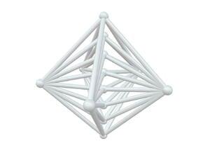 K85 - Line/Circle in White Natural Versatile Plastic