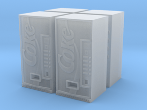 HO SCALE COKE VENDING MACHINES X4 in Smooth Fine Detail Plastic
