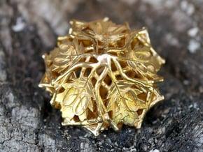 Botanical Die10 Decader (Oak) Mini in Natural Brass