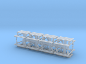 Park Picnic Bench (x8) 1/160 in Smooth Fine Detail Plastic