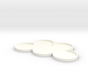 Cloud Pattern Movement Tray for 5 models in White Processed Versatile Plastic: Small