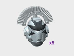 5x Cross Face - Centurion G:10 Prime Helms in Smooth Fine Detail Plastic