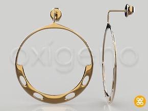 Yaa Hoop Earrings in Polished Bronze